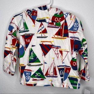 Nwt Ralph Lauren hooded sailboat shirt pullover